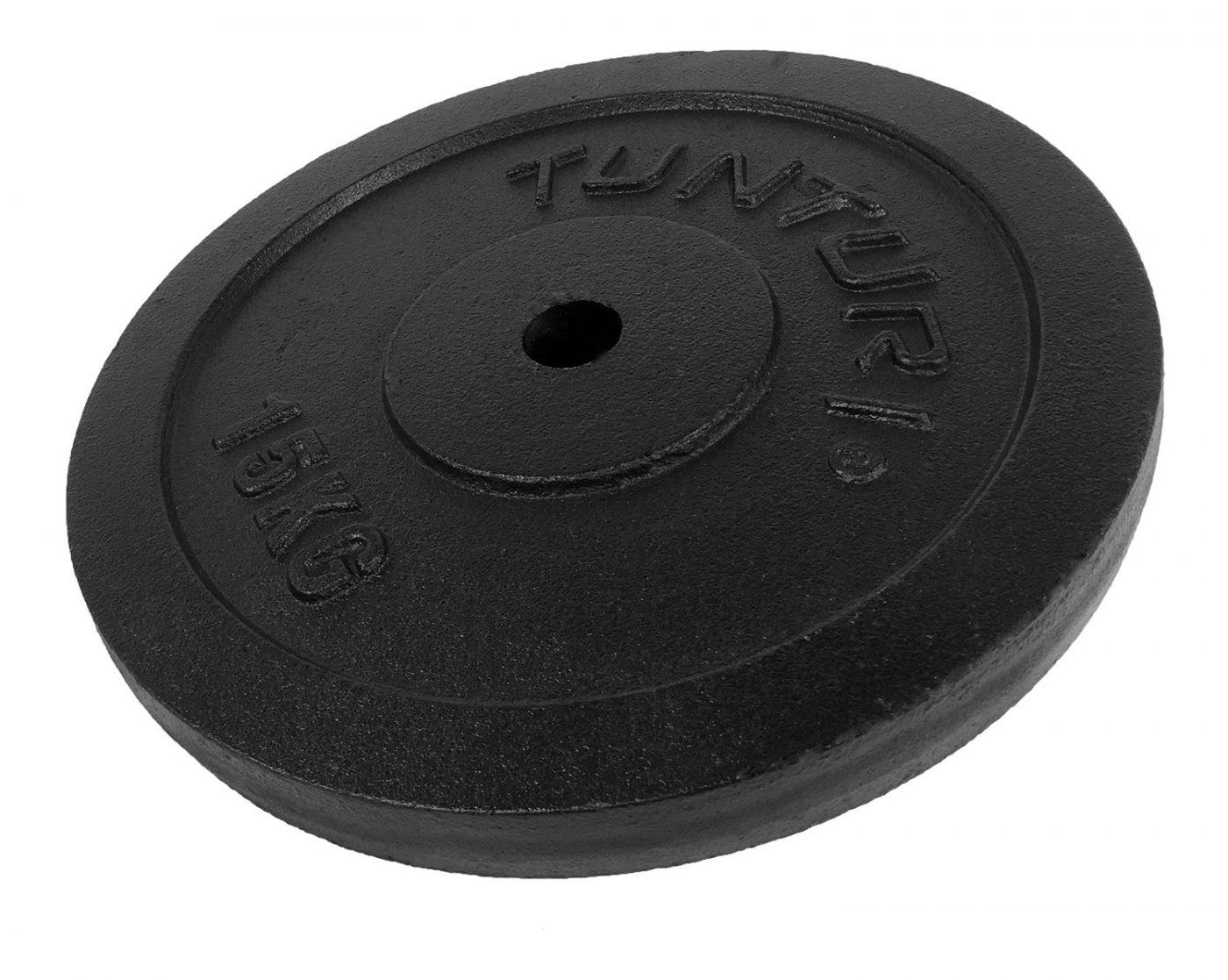 Tunturi Halterschijf - Halter gewichten - 1 x 15 kg - п 30 mm - Gietijzer