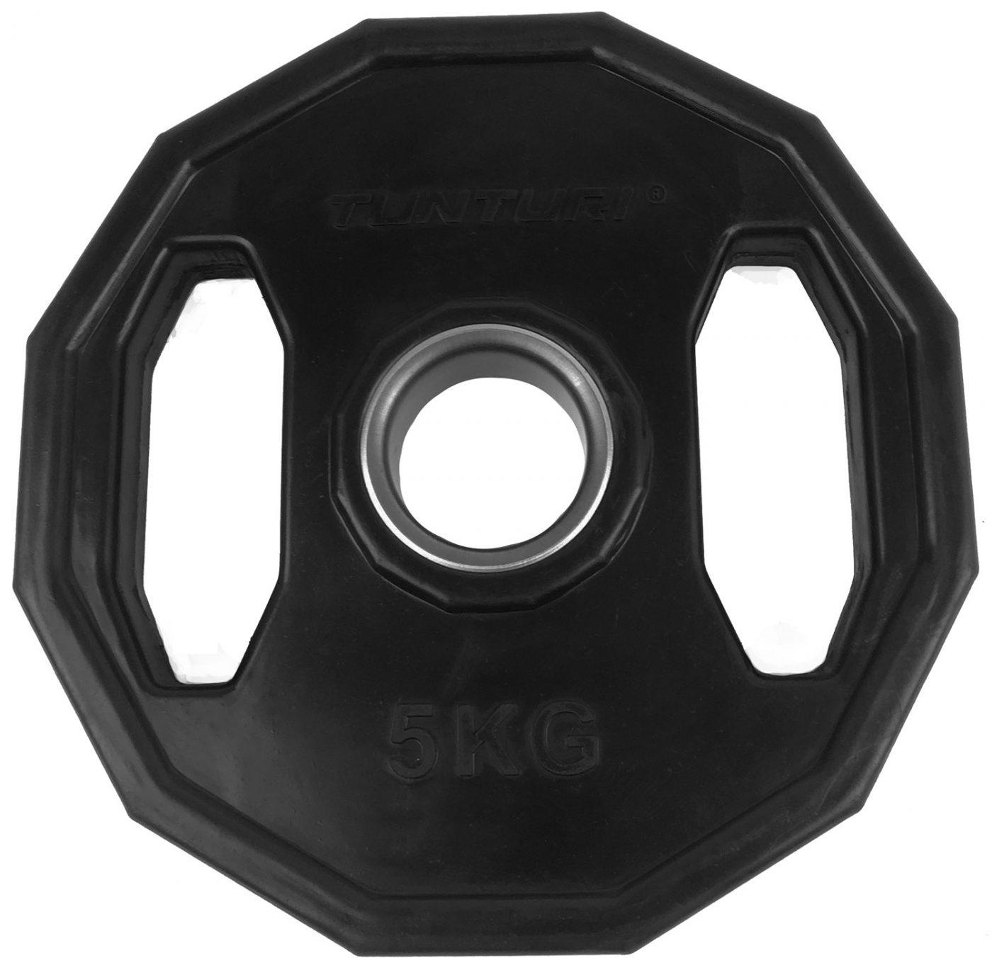 Tunturi Olympische Halterschijf - Halter gewichten - 1x 5 kg - 50mm - Rubber