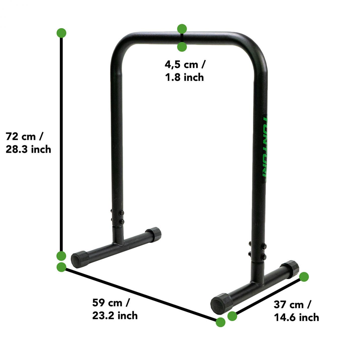 Tunturi Parallettes hoog - Dip Bars set - 2st