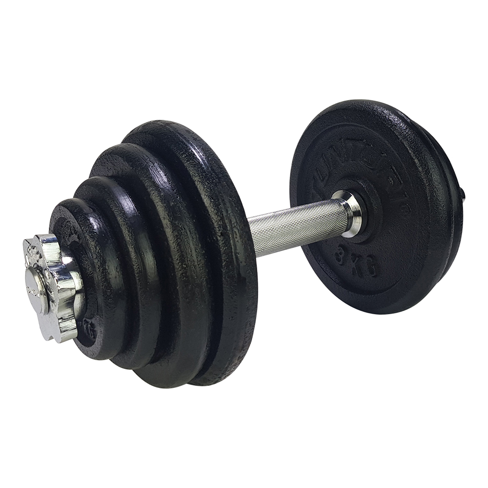 Tunturi Dumbbellset - Halterset - Totaal 15 kg - Zwart