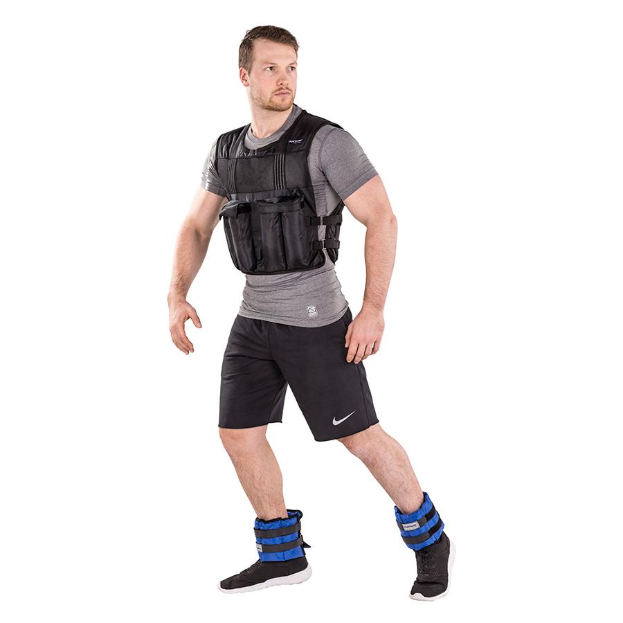 Tunturi Gewichtvest - Verstelbaar - Gewichtsvest hardlopen - 15 kg - Zwart