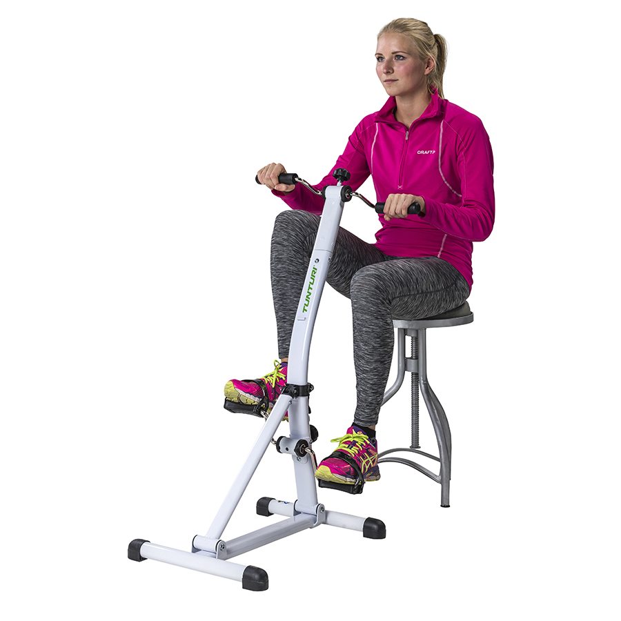 Tunturi Dubbele Bewegingstrainer - Fietstrainer - Stoelfiets - Mini bike - Verstelbaar