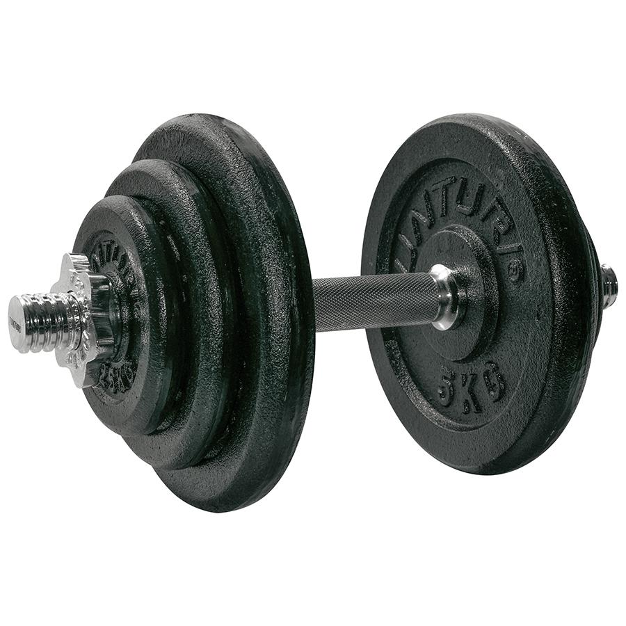 Tunturi Dumbbellset - Halterset - Totaal 20 kg - Zwart