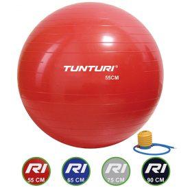 Tunturi Fitnessbal - Gymball - Swiss ball - 55 cm - Incl. pomp - (Rood)