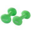 Tunturi Dumbbell set - 2 x 4,0 kg - Neopreen - Fluor Groen