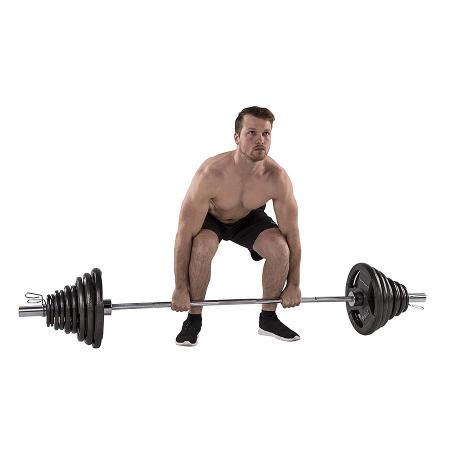 Tunturi Olympische Tri-Grip Halterstang set - 50mm - 140kg