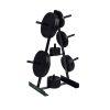 Tunturi Schijvenstandaard - Halterschijf standaard -Zwart - 30mm