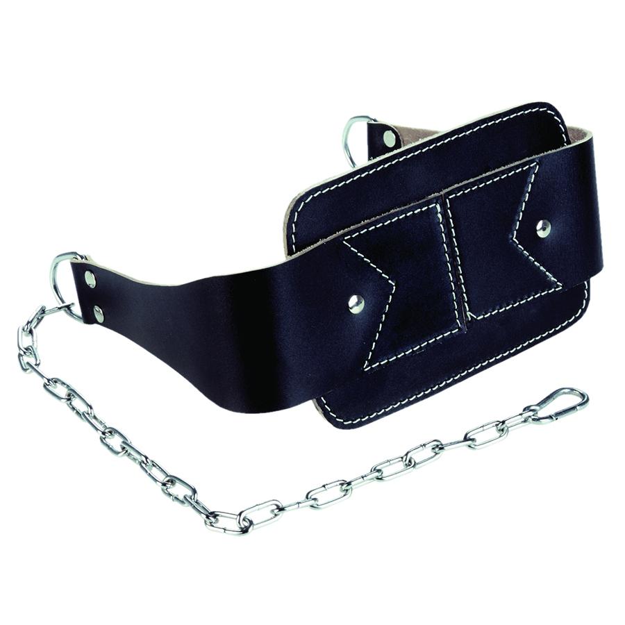 Tunturi Dip belt - Leer - 100cm - Zwart