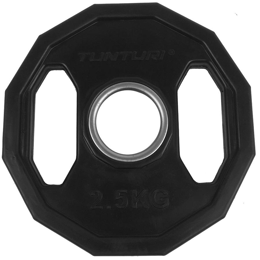 Tunturi Olympische Halterschijf - Halter gewichten - 2x 2,50 kg - 50mm - (Rubber)