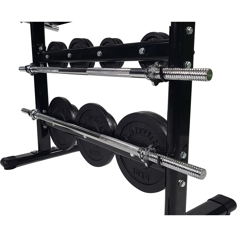 Tunturi Dumbbell rek - Halterrek - Gewichtenrek en Halterschijven standaard - 30mm