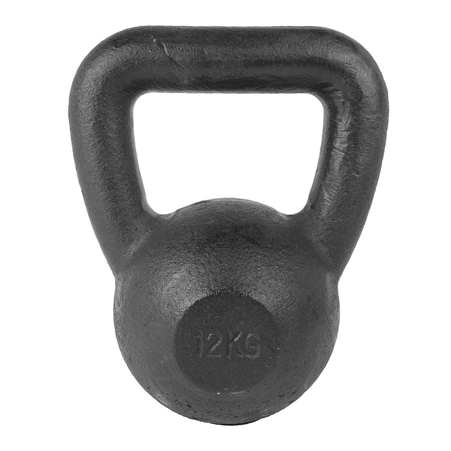 Tunturi Kettlebell - 12 kg - Zwart