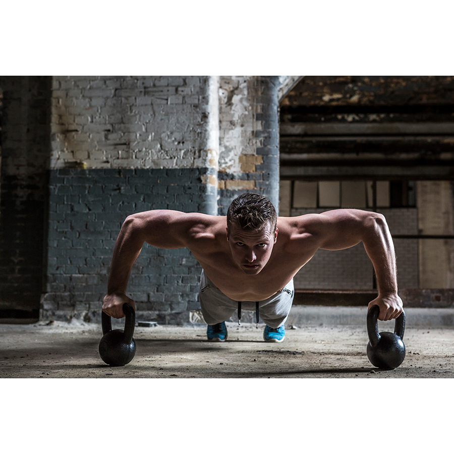 Tunturi Kettlebell - 16 kg - Zwart