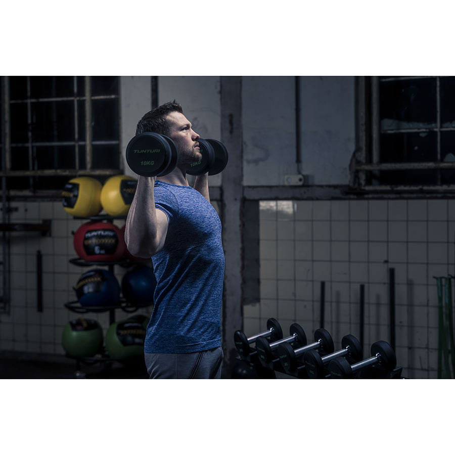 Tunturi Pro PU Dumbbell Set 2 t/m 12 kg - 1 paar - (Halterset)