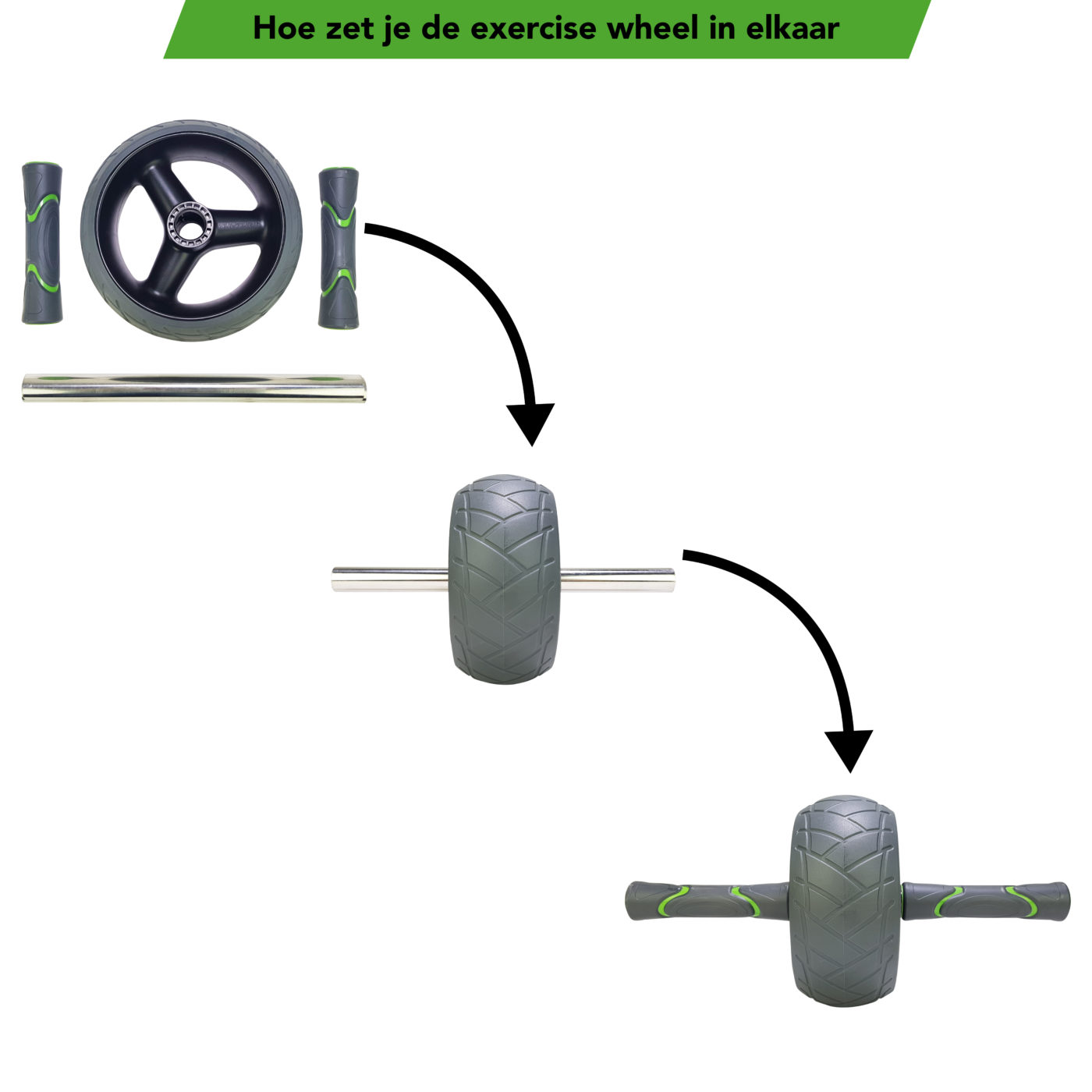 Tunturi AB roller- Buikspiertrainer - Trainingswiel De Luxe