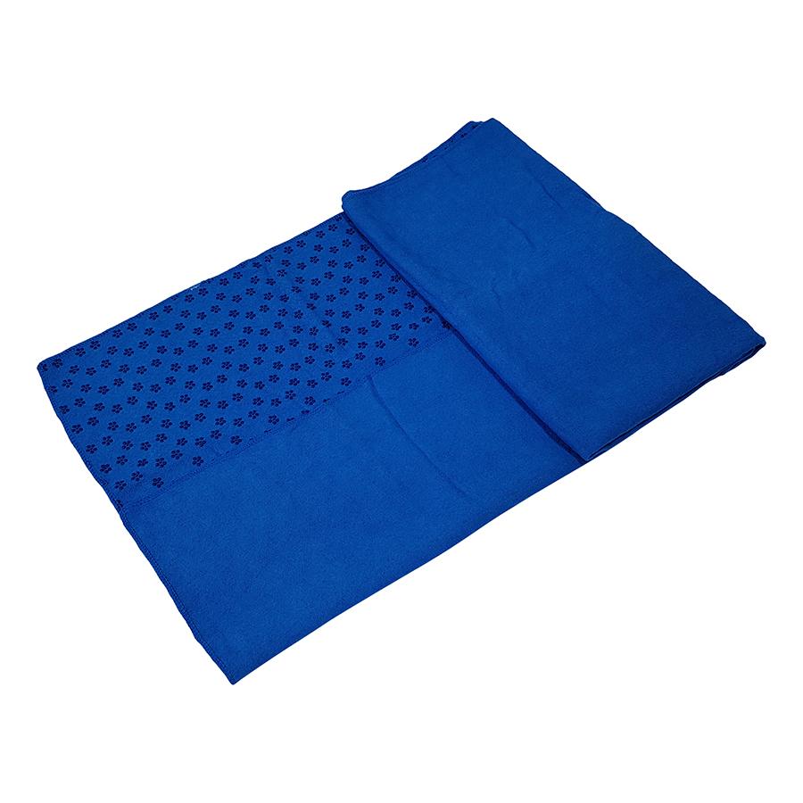 Tunturi Silicone Yoga handdoek met anti slip - met draagtas - (Blauw)