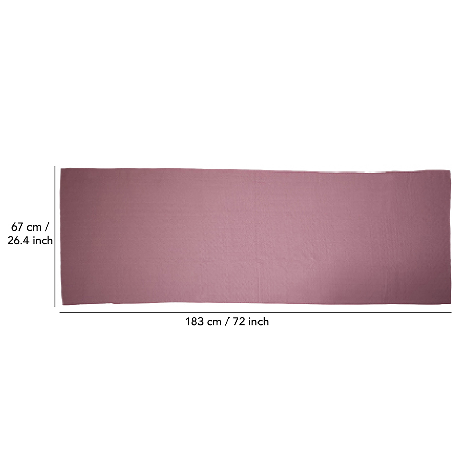 Tunturi Silicone Yoga handdoek met anti slip - met draagtas - Roze