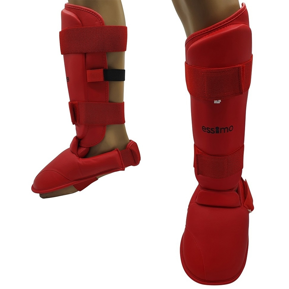 Essimo Karate Shin Instep - Red