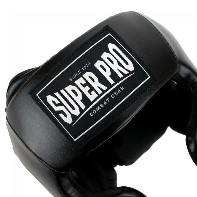 Super Pro Hoofdbeschermer PU Zwart (SPHG100)