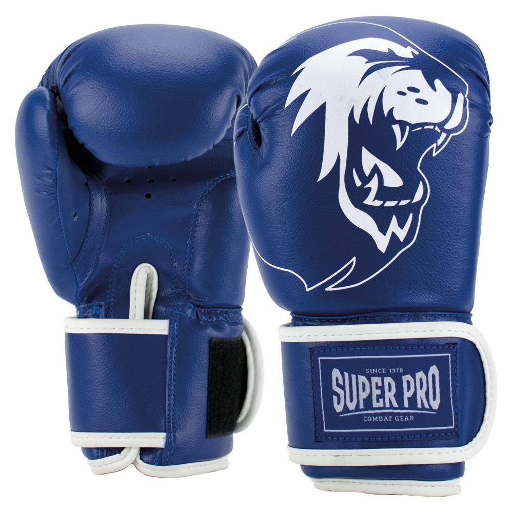 Super Pro Combat Gear Talent (kick)bokshandschoenen Blauw/Wit 4oz