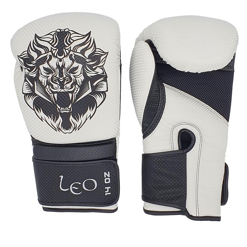 Leo Carbon Gloves - White/Black