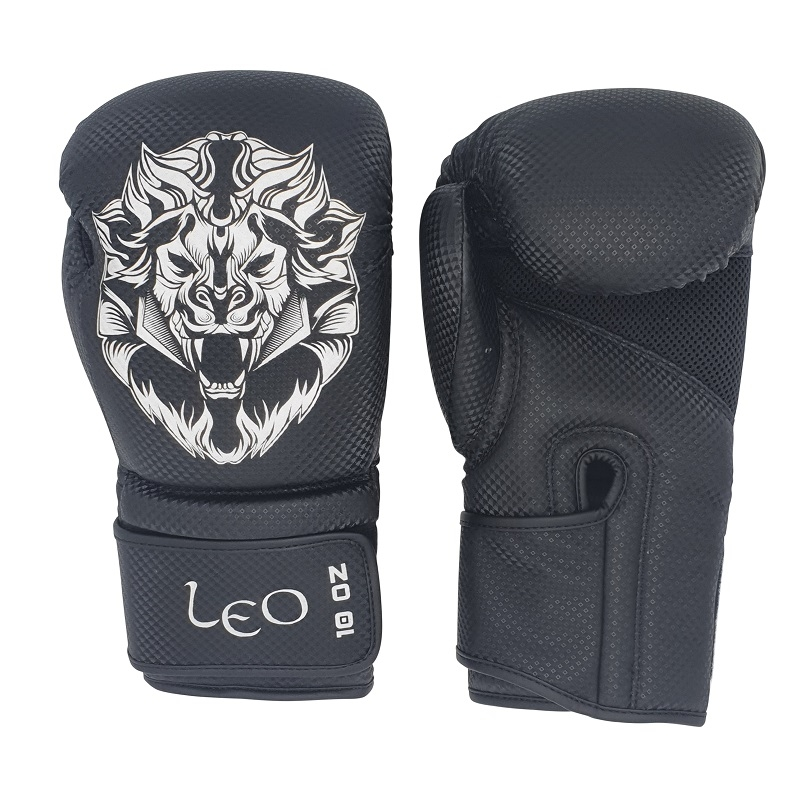 Leo Carbon Gloves - Black/White