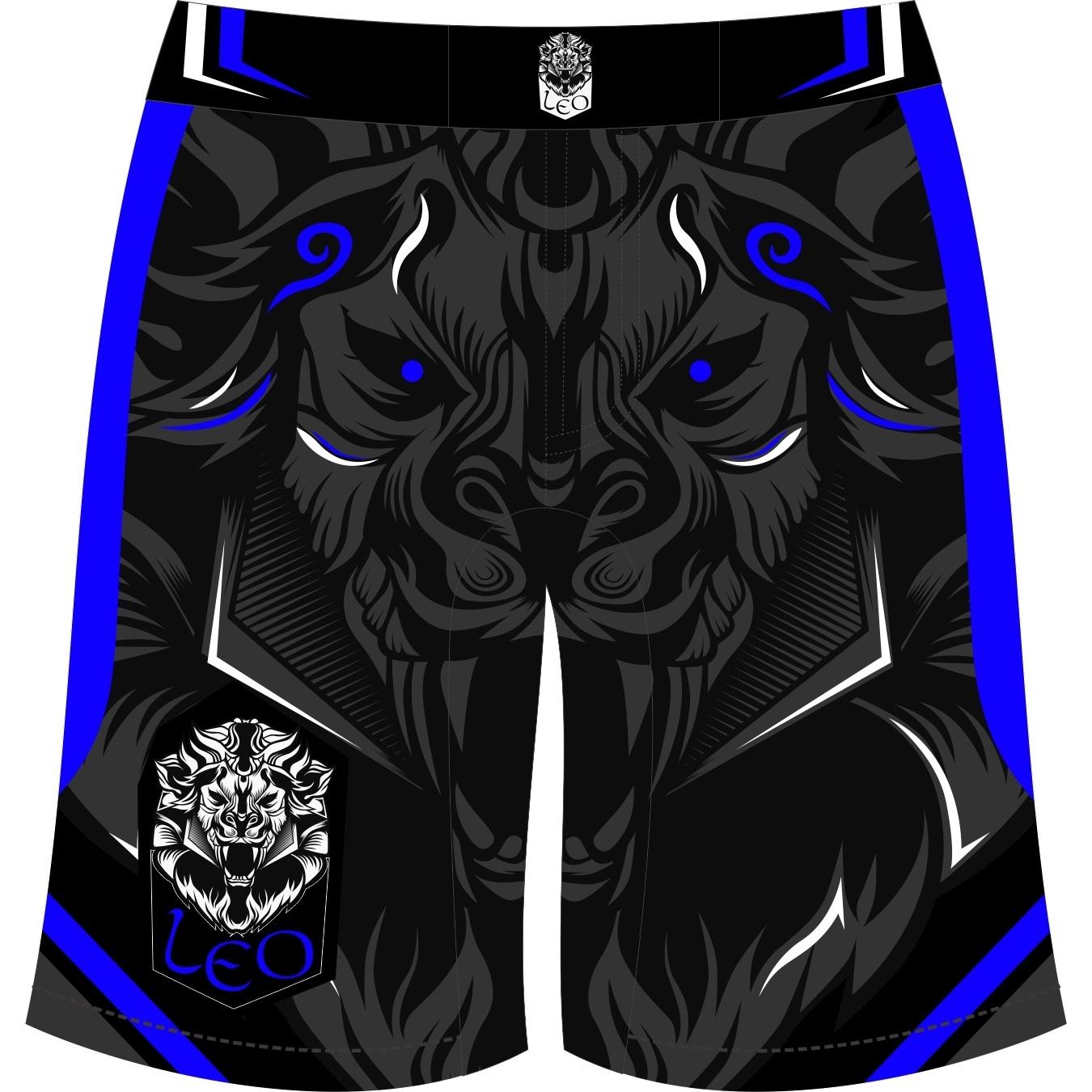 Leo Legend MMA Short - Black/Blue