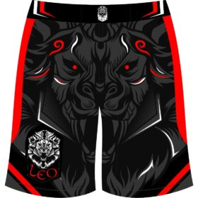 Leo Legend MMA Short - Black/Red