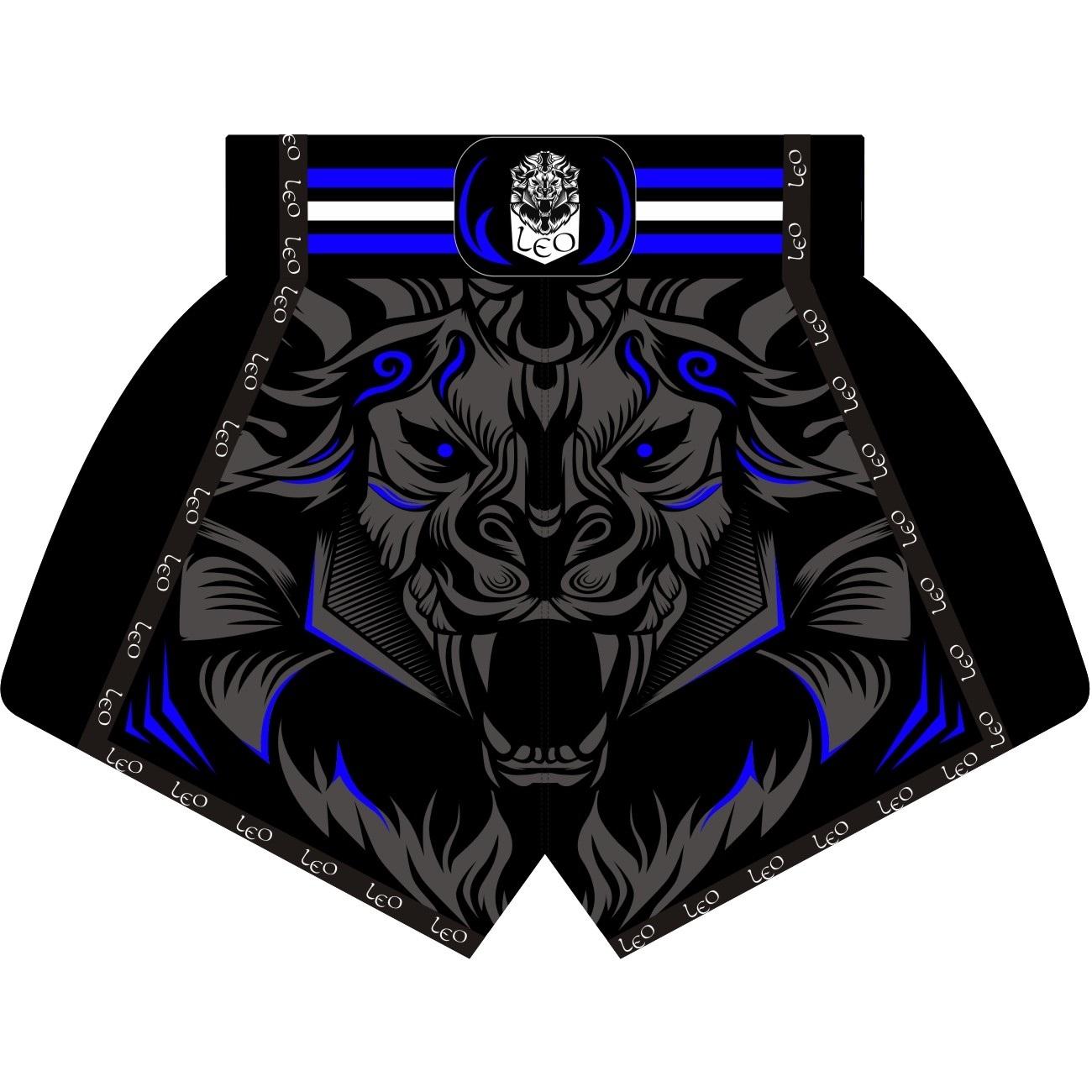 Leo PREDATOR Mesh Kickboxing Short - Black/Blue