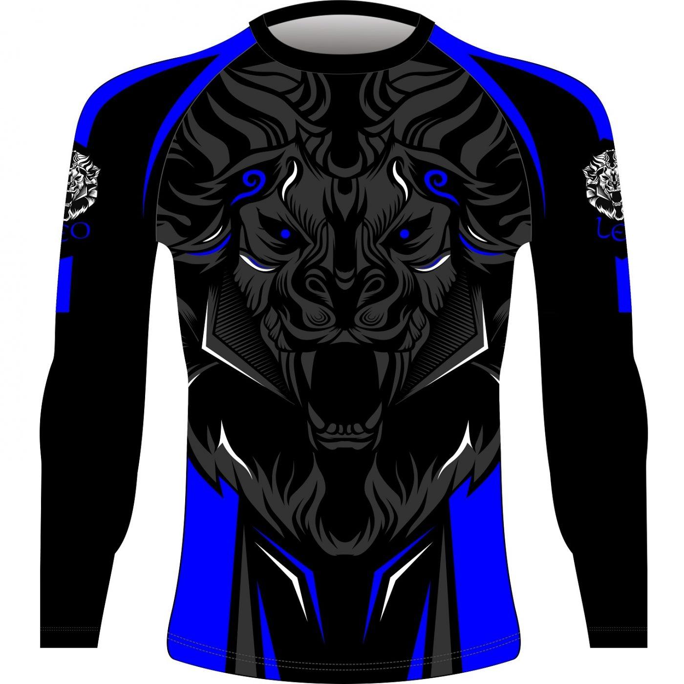 Leo ROAR Rashguard LS - Black/Blue