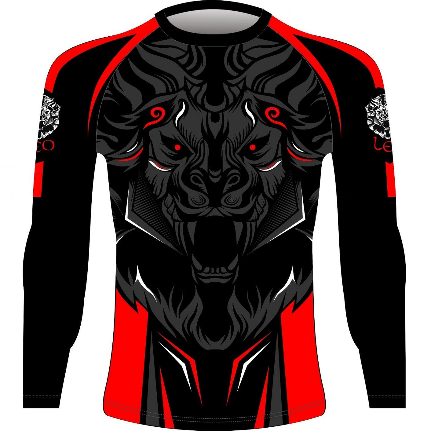 Leo ROAR Rashguard LS - Black/Red