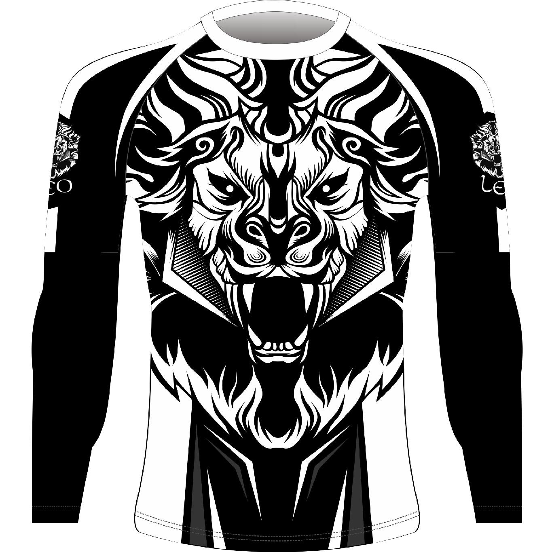 Leo ROAR Rashguard LS - White/Black