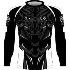 Leo ROAR Rashguard LS - Black/White