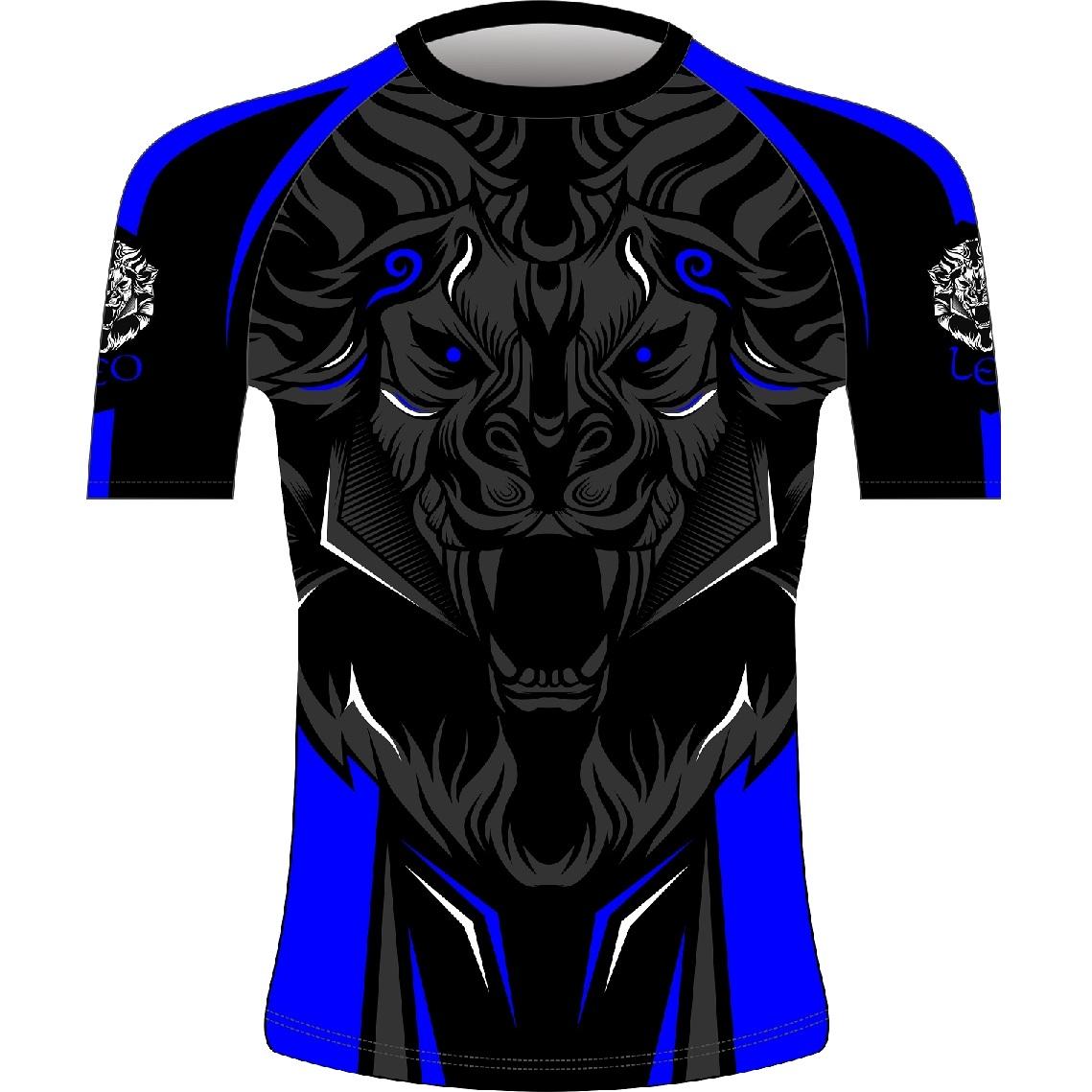 Leo ROAR Rashguard SS - Black/Blue
