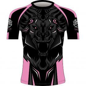 Leo ROAR Rashguard SS - Black/Pink