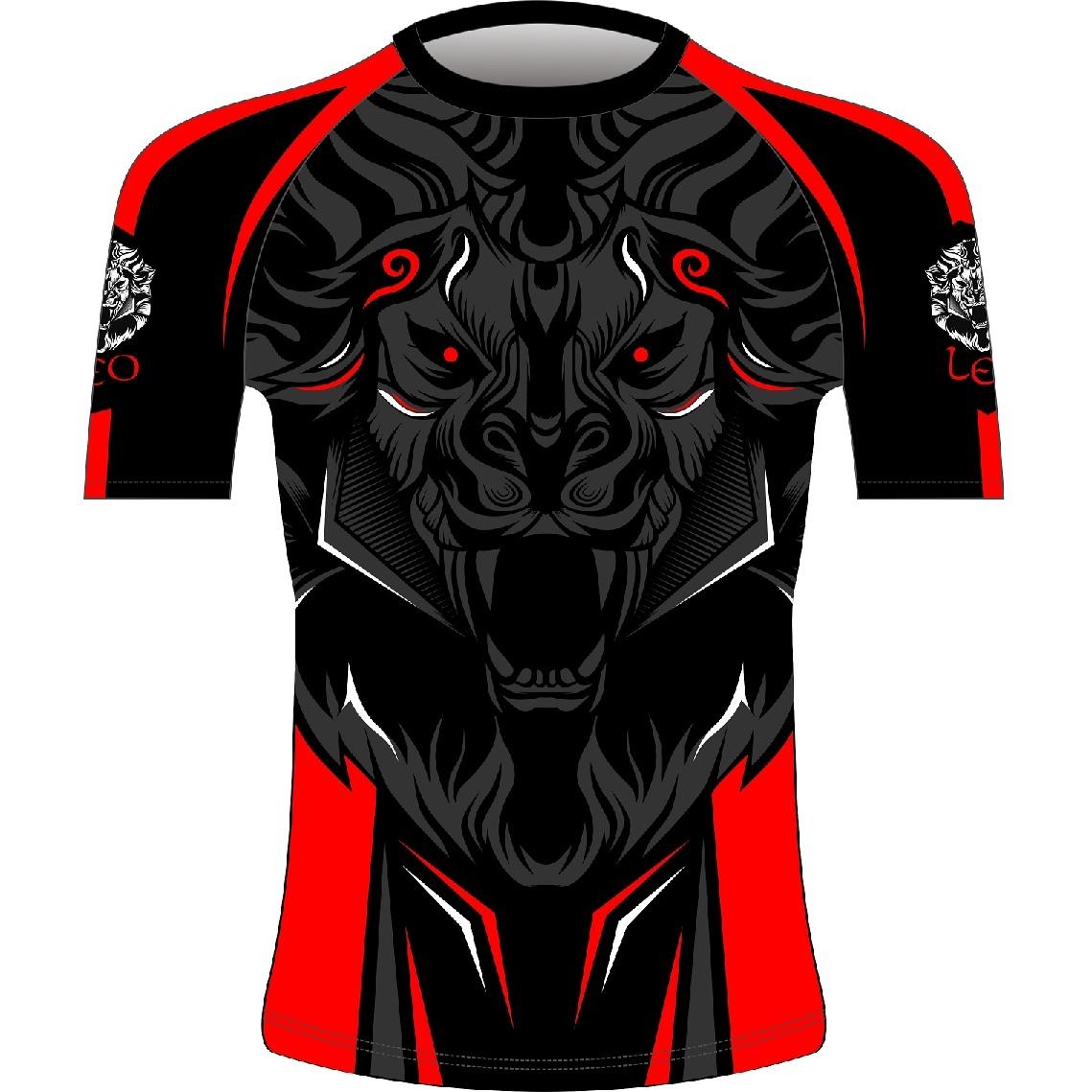 Leo ROAR Rashguard SS - Black/Red