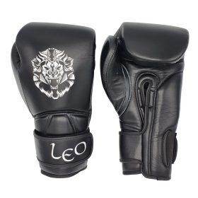 Leo (kick)bokshandschoenen Ultimate Leather (zwart)