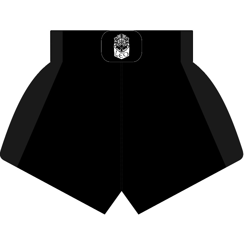 Leo Kickboxing Short MESH Plain Black