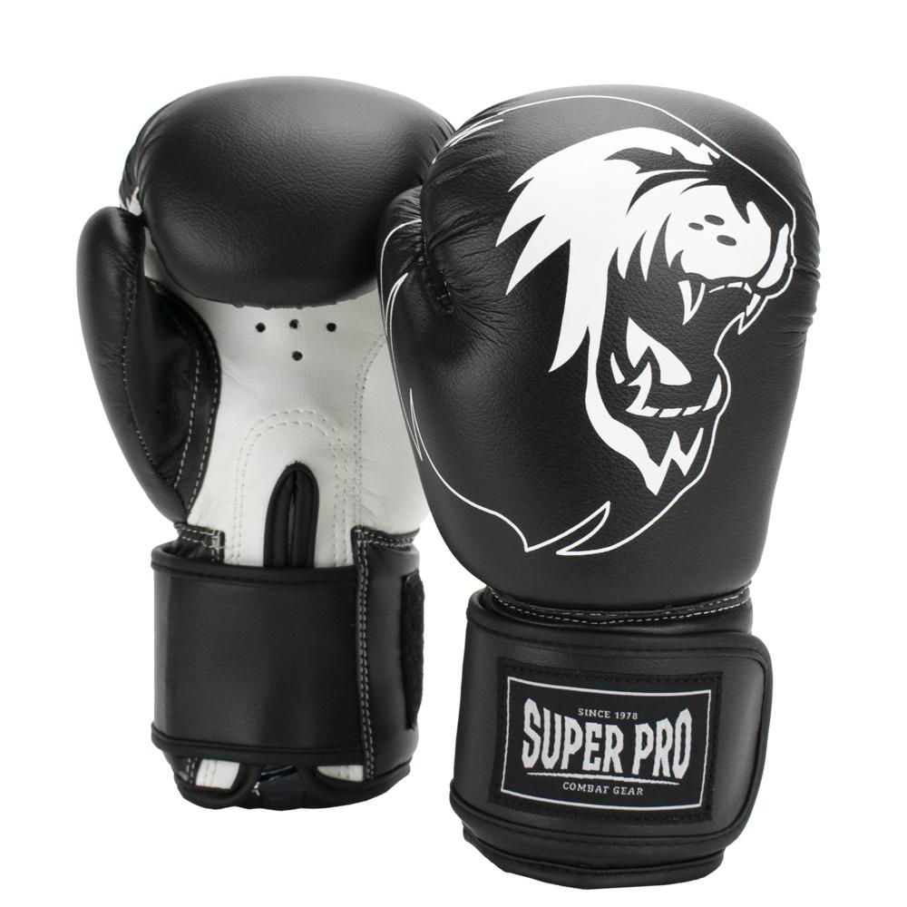 Super Pro Combat Gear Talent (kick)bokshandschoenen Zwart/Wit 4oz