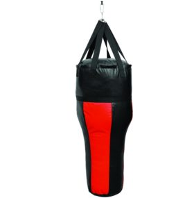 Anglebag/ bokszak met hoek rood/zwart