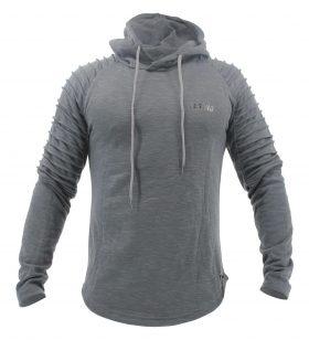 Hoodie Rib Sleeve Grey