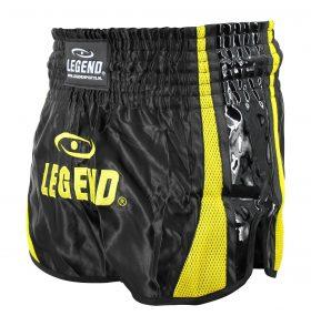 Kickboks Broekje Black Yellow
