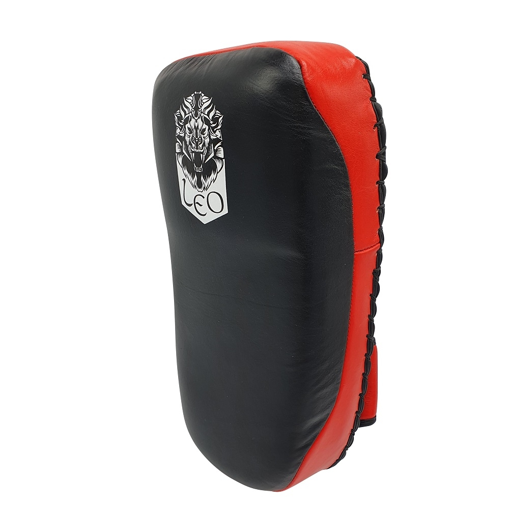 Leo Thai Pads Leather (pair) - Black/Red