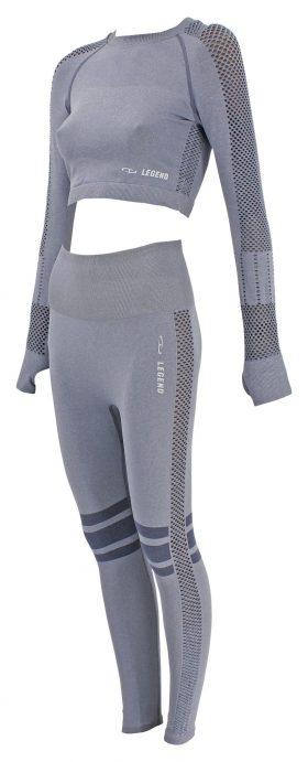 Dames Sport-Top en Sportlegging Gray