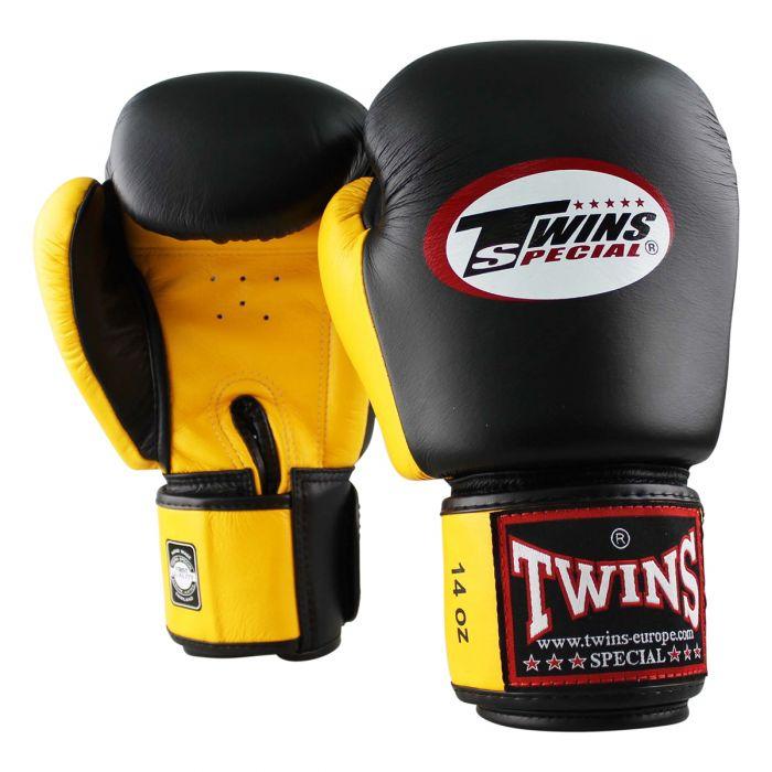 Twins kickbokshandschoenen BGVL 3 Black/Yellow
