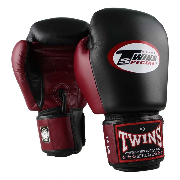 Twins kickbokshandschoenen BGVL 3 Black/Wine Red
