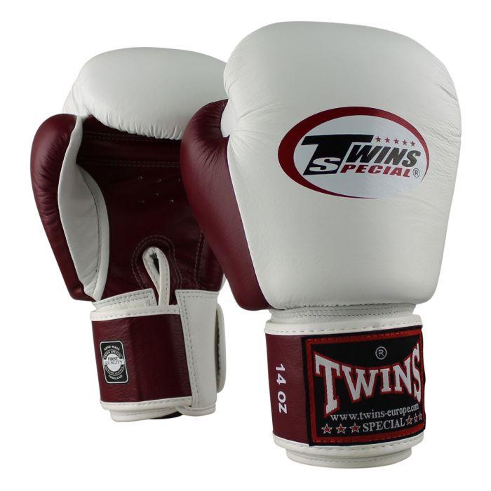 Twins kickbokshandschoenen BGVL 3 White/Wine Red