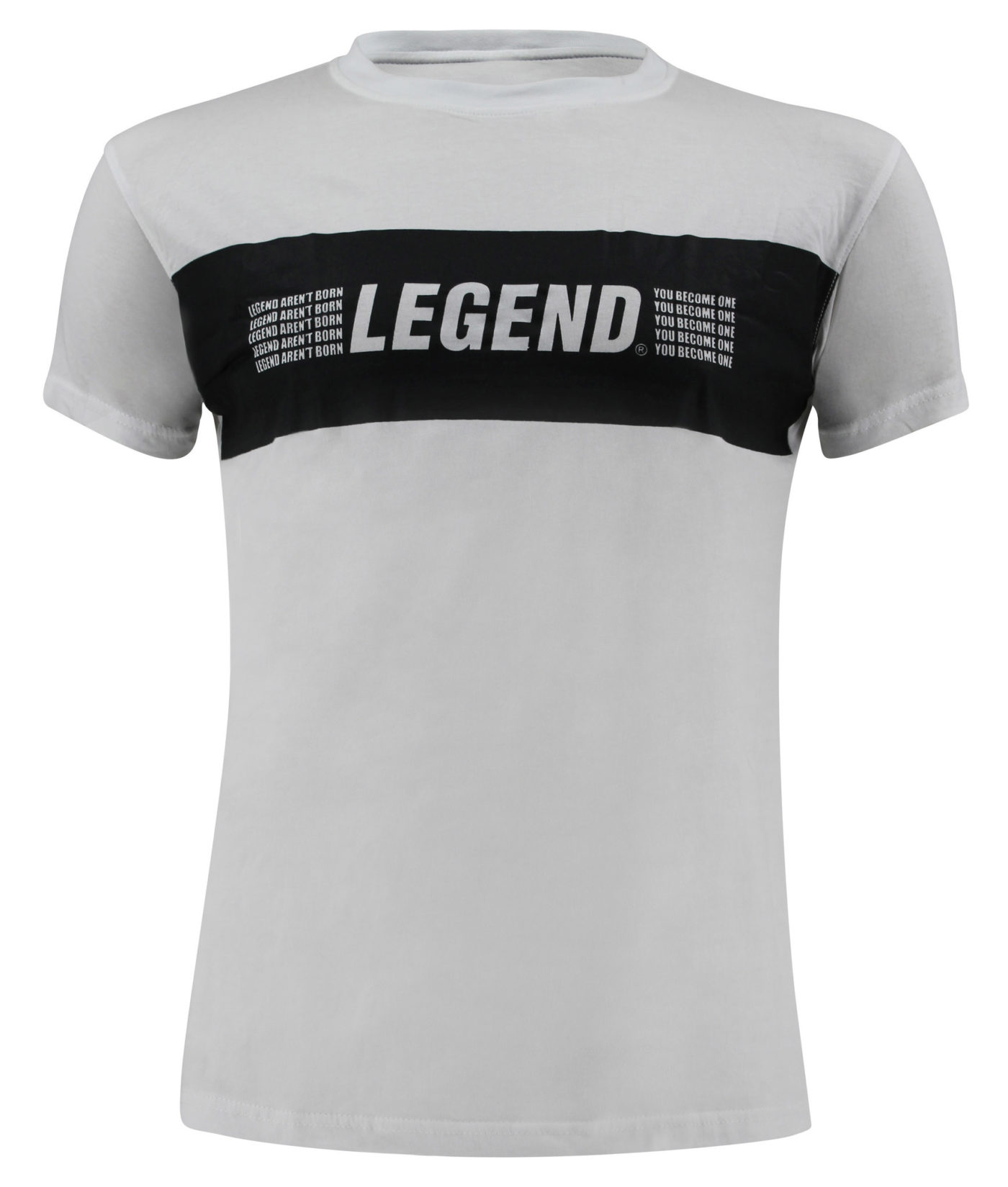 T-Shirt wit Legends Aren't born, you become one -