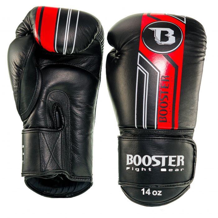 Booster kickbokshandschoenen BGL V9 BLACK/RED