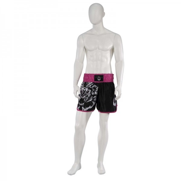 Leo INSTINCT Kickboxing Short - Black/Pink-XL