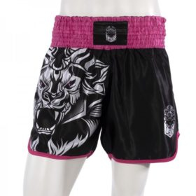 Leo INSTINCT Kickboxing Short - Black/Pink-XL